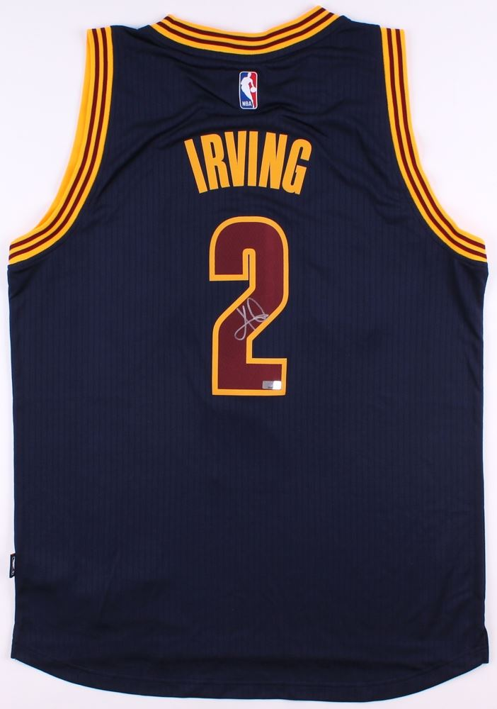 9a43b5870f193 Image 1 : Kyrie Irving Signed Cavaliers Authentic Adidas Swingman Jersey  (Panini COA)