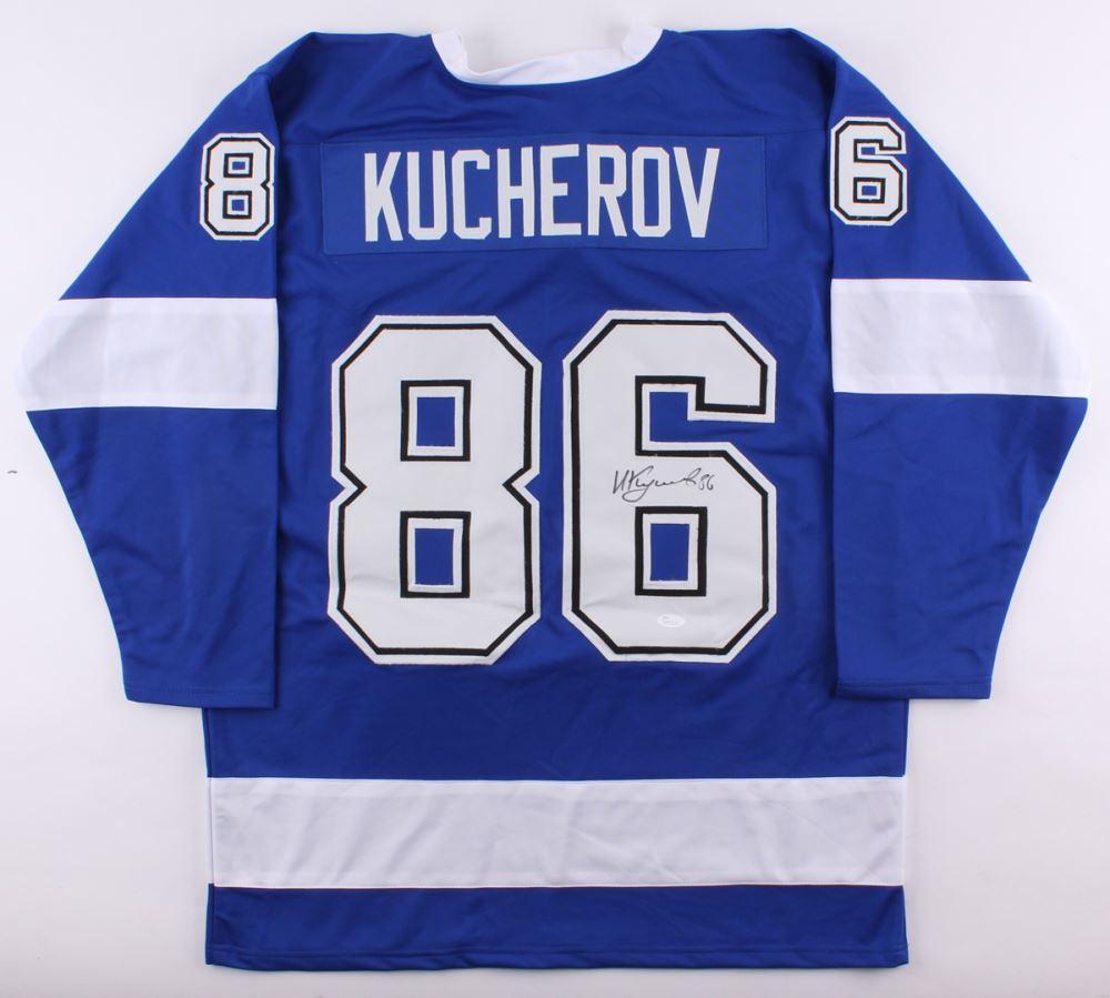 new product c515a f22b2 Nikita Kucherov Signed Lightning Jersey (JSA COA)