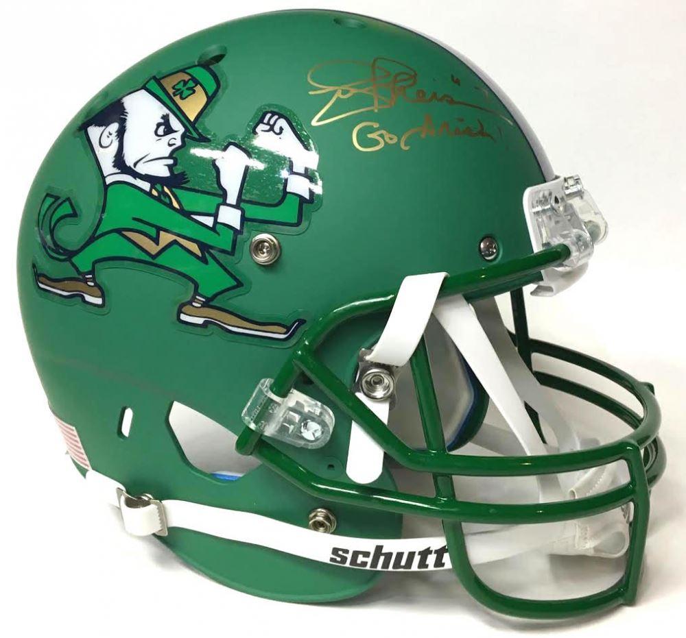 22fe114abc21 Image 1 : Joe Theismann Signed Notre Dame Fighting Irish Full-Size Custom  Matte Green