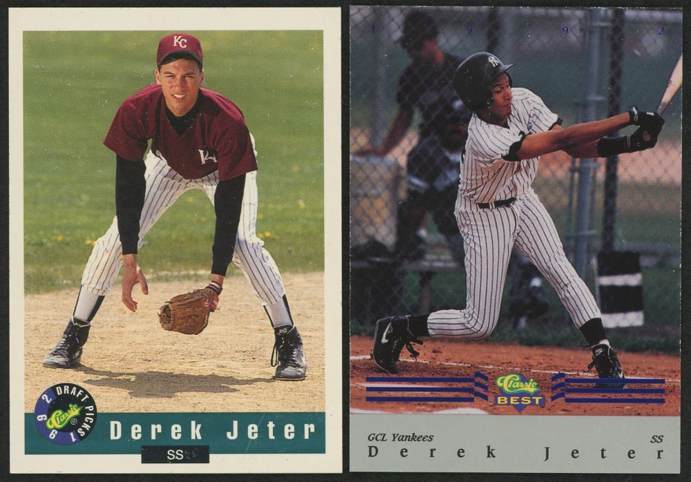 Lot Of 2 Derek Jeter Rookie Cards With 1992 Classicbest Blue