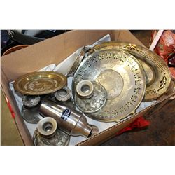 LOT OF SILVER PLATE AND METALWARE