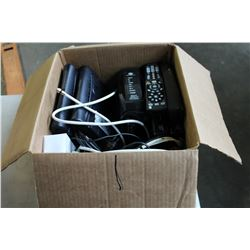 BOX OF SHAW DIRECT BOXES AND ARIS MODEMS