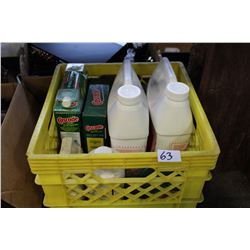 CRATE OF CLEANING SUPPLIES