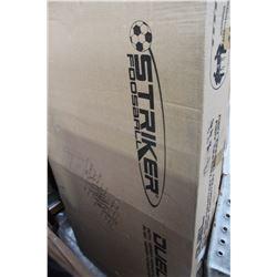"STRIKER DUAL 56"" FOOSEBALL TABLE NEW IN BOX"