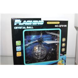 BRAD NEW FLASHING CRYSTAL BALL DRONE HEAT SENSORED