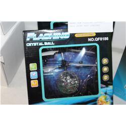 BRAND NEW FLASHING CRYSTAL BALL DRONE HEAT SENSORED