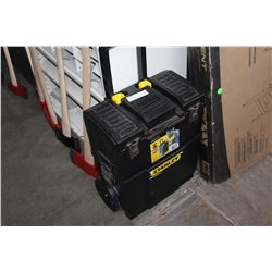 STANLEY ROLLING TOOLBOX AND WOODEN ORGANIZER