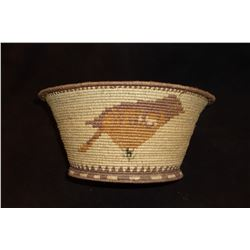 """NW Bird Motif Basket-  11.5""""H X 5""""H"""