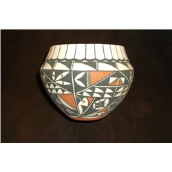 "Modern Acoma Pot- 4.5""H X 5.5""W"