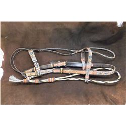 Deer Lodge Prison Hitched Horse Hair Headstall- 6 Colors- Tassel