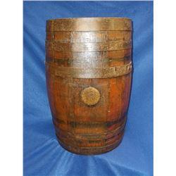 "Banded Whiskey Barrel- 16.5""H X 11.5""W"
