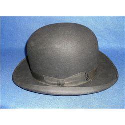 Marked John B Stetson Company Derby-  CC Bradley And Joe Mauck Mens Hatters- Portland Oregon