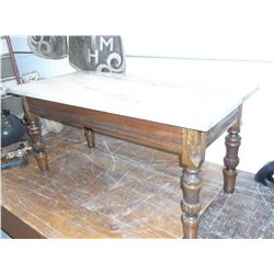 """Marble Top Table- 20"""" H X 43"""" L X 20""""W"""