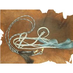 Deer Lodge Prison Hitched Horsehair Headstall- It appears that the Reins were made at a later date