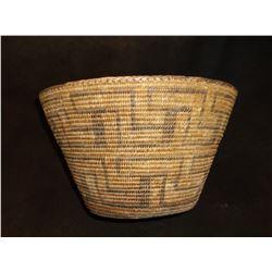 """Large Pima Basket- Excellent Condition- 7.5""""H X 12.5""""W"""