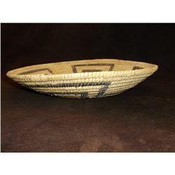 "Papago Geometric Basket- C. 1970- 1.75""H X 10""W"
