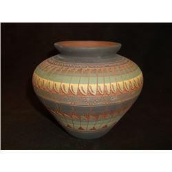 "Navajo Pot- Signed Billy Dennison-96- 5.5""H X 6""W"