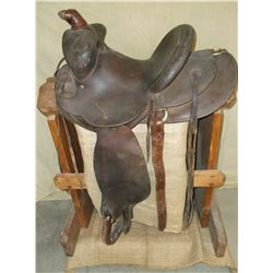 "Marked Hamley + Company Pendleton Oregon Saddle- 13"" Seat- 1"" Cheyenne Roll- TF on Cantle"