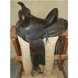"Marked Hamley Maker Pendleton Ore. Saddle- Numbered 8502-450-?30- 13"" Seat- Shovel Cantle- Form Fitt"
