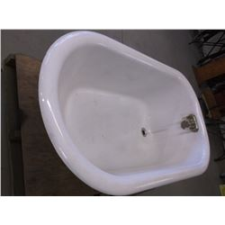 "Porcelain Bathtub- Removable Feet- Faucet- 23""H X 54""L X 34""W"