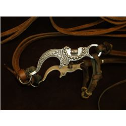 Marked JWP Eagle Shank Bit- Mona Lisa Mouth- Headstall with Reins