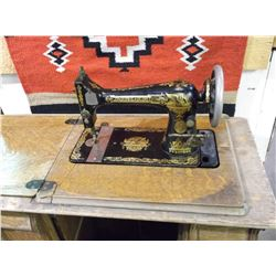 Singer Treadle Sewing Machine- Oak Veneer Case- Veneer is Rough- Needs Belt