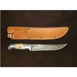 "Early Ruana Knife- Blade 7.75""- Handle 4.5"" Unmarked- Made By Rudy- Letter of Authenticity"