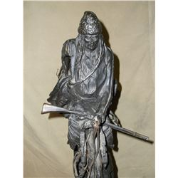 """Marked Copyright by Frederick Remingtion Bronze- """"The Mountain Man""""- #10 of #100- 28.5""""H"""