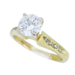 18KT Yellow gold 0.79ctw Diamond Ring
