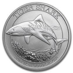 2016 Australia Tiger Shark 1/2 oz Silver Coin
