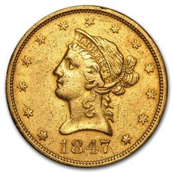 1847-O $10 Liberty Head Eagle Gold Coin