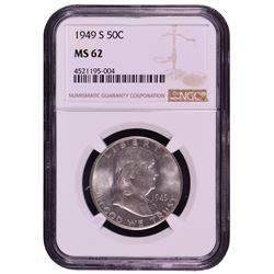 1949-S Franklin Half Dollar Coin NGC MS62