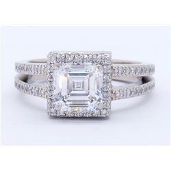 Platinum 1.41ctw GIA Cert Diamond Ring