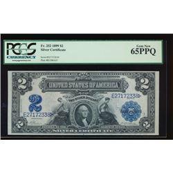 1899 $2 Washington Silver Certificate PCGS 65PPQ