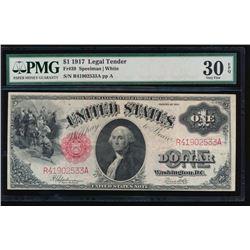 1917 $1 Legal Tender Note PMG 30EPQ
