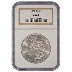 1902-S $1 Morgan Silver Dollar Coin NGC MS63