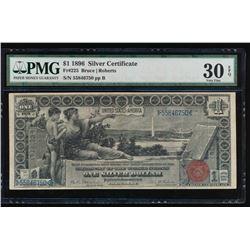 1896 $1 Silver Certificate PMG 30EPQ