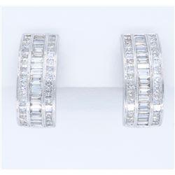 18KT White Gold 4.00ctw Diamond Earrings