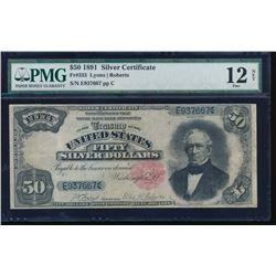 1891 $50 Silver Certificate PMG 12NET Fr. 333