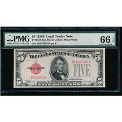 1928B $5 Legal Tender Note PMG 66EPQ
