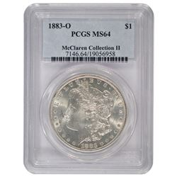 1883-O $1 Morgan Silver Dollar Coin PCGS MS64