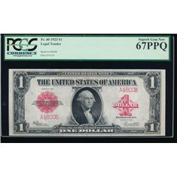 1923 $1 Legal Tender Note PCGS 67PPQ