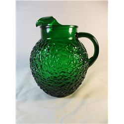 Vintage Anchor Hawking Emerald/Forest Green Juice Pitcher