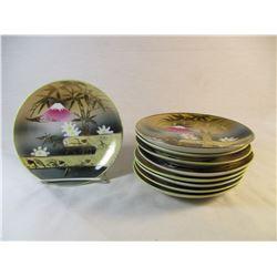 Made in Japan Handpainted Set of 9 Desert Plates