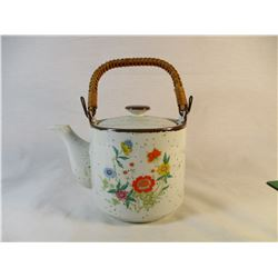 Vintage made in Japan Teapot with bamboo handle