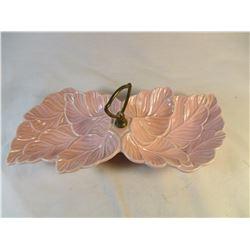 McCoy Pink Leaf Dish
