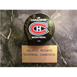 SIGNED MONTREAL CANADIANS NHL HOCKEY PUCKS