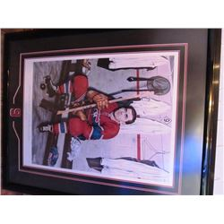 MAURICE RICHARD MONTREAL CANADIANS SIGNED LTD PAINTING