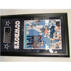 TONY DORSETT DALLAS COWBOYS NFL SIGNED FRAMED PICTURE