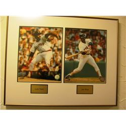 LUIS TIANT/JIM RICE FRAMED MLB PRINT